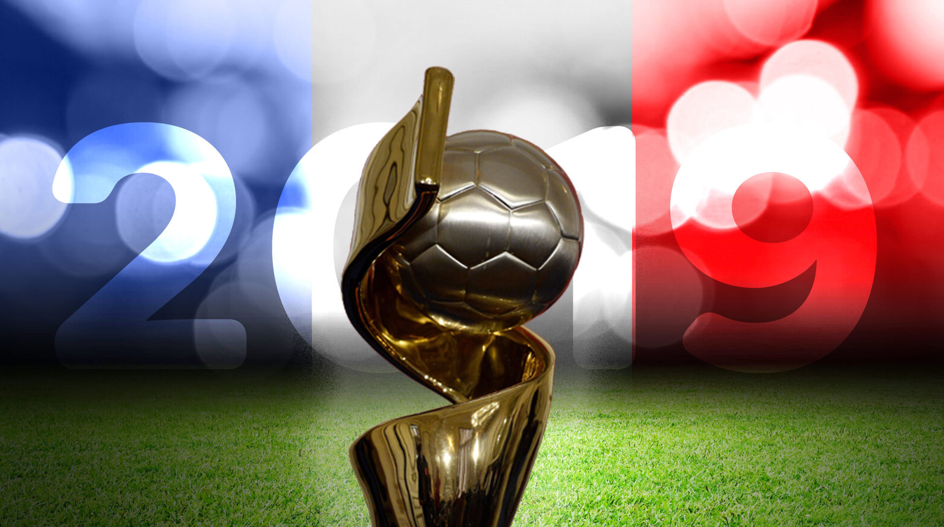 Women's World Cup France composite image with trophy