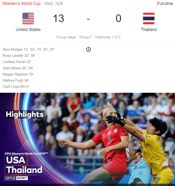 USA Vs Thailand