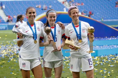 Trio of Champions, Alex Morgan, Rose Lavelle and Megan Rapinoe