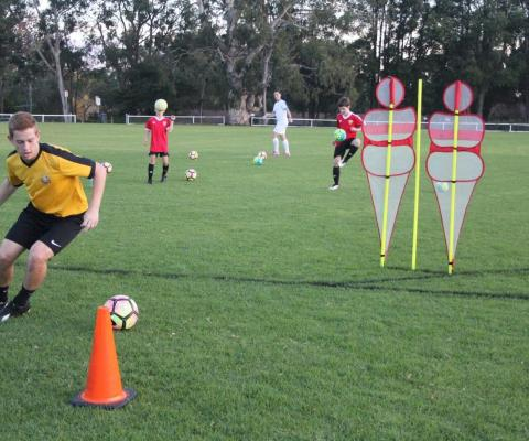 Football Skill Development Step over 7