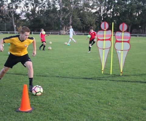 Football Skill Development Step over 8