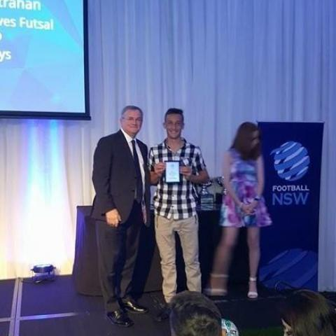 Lachlan has received his award